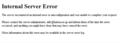 [はてな]500 Internal Server Error