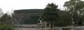 [旧広島市民球場]解体されていない外野を北側から見る