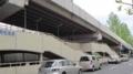 広島バスセンター西自転車等駐車場を望む