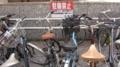 旧広島市民球場 南側 自転車と駐輪禁止の看板