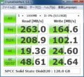 [CrystalDiskMark][Silicon Power]SP128GBSSDE20S25 単体での測定