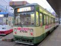 [広島電鉄3700形電車]3703編成 ICカード前扉乗降試験車両