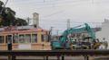 [広島電鉄2000形電車]2006号車と解体用重機