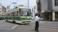 [広島電鉄800形電車]810号車と係員