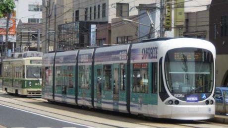 """802号車 / 5108編成""""サンフレッチェ電車"""""""