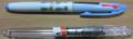 壊れた3色ボールペン(上) /Pentel 3色用本体(下)リフィル別売り