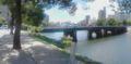 [平和大橋]平和大橋東詰北側から橋を臨む