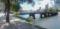 平和大橋東詰北側から橋を臨む
