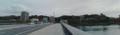[鶴見橋]鶴見橋西岸から比治山公園方面を臨む