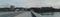 鶴見橋西岸から比治山公園方面を臨む