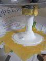 洗面台の配管カバーと配管を塗装