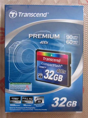 TS32GCF400 CompactFlash 32GB パッケージ表