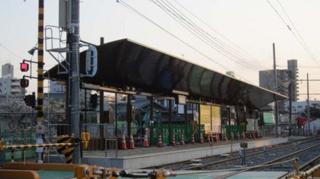 移転した広電宮島口駅方面のホーム