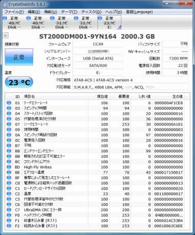 ST2000DM001-9YN164 2000.3GB