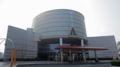 [広島市交通科学館]駐輪場から見た広島市交通科学館の建屋