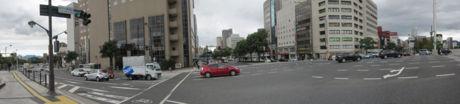 広島市南区「駅前大橋南詰」交差点