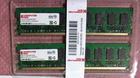 Komputerbay 4GB 2X 2GB DDR2 800  PC2-6400(240 PIN) DIMM