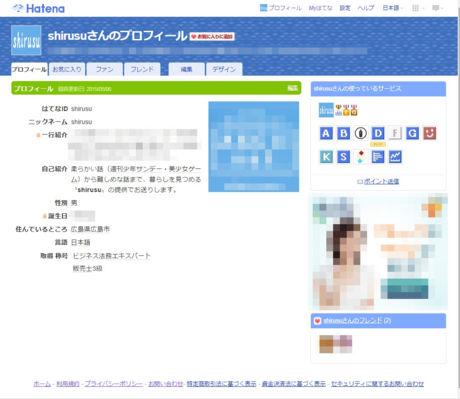 shirusuのプロフィール