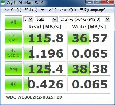 CrystalDiskMark 5.1.0 WDC WD30EZRZ-00Z5HB0