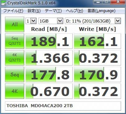 TOSHIBA MD04ACA200 2TB