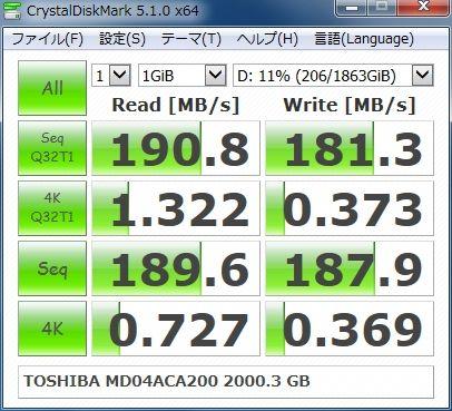 TOSHIBA MD04ACA200 2000.3G