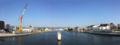 [東大橋]東大橋架替工事を仮設歩道橋から見る