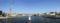 東大橋架替工事を仮設歩道橋から見る