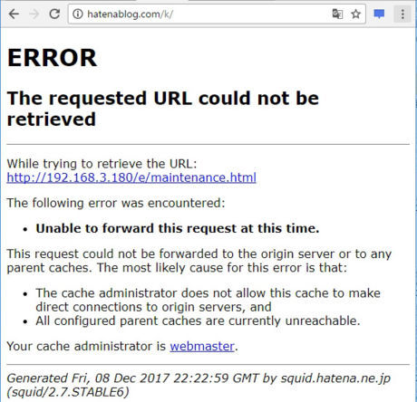 ERROR The requested URL could not be retrieved