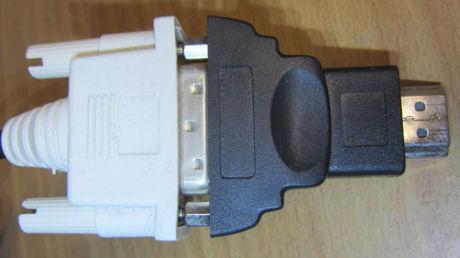DVI-D(メス)→ HDMI(オス)コネクター