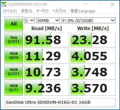 Sandisk「SDHC UHC-I Ultra 16GB」