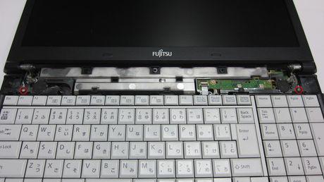 富士通 FUJITSU LIFEBOOK A574/M 前面キーボード取付部