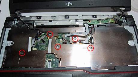 富士通 FUJITSU LIFEBOOK A574/M キーボード下カバー