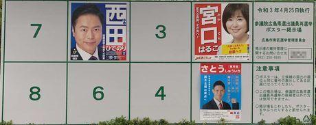 令和3年4月25日執行 参議院選挙ポスター掲示板