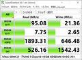 [SanDisk][CrystalDiskMark]Ultra SDHCカードUHS-I Class10 16GB SDSDUN-016G-J01