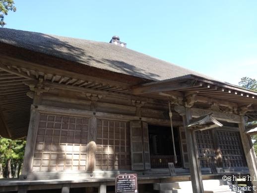 毛越寺境内の常行堂の外観の画像