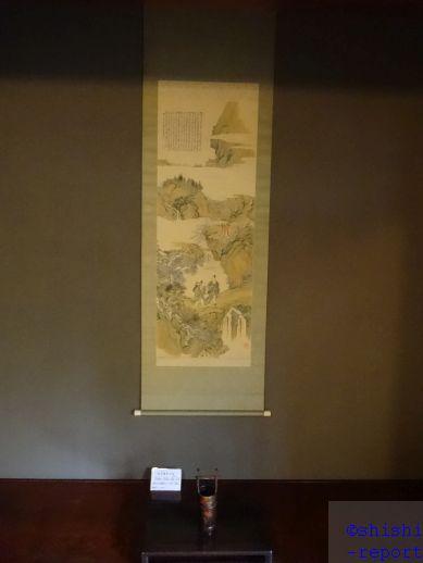 客間に飾られている児玉果亭の絵を撮影した画像