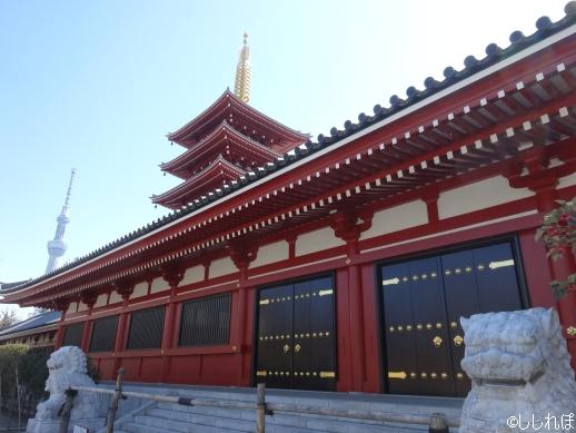 お堂と五重塔が写っている画像