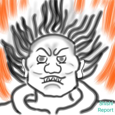 秋篠寺の大元帥明王像を参考に描いたイラスト