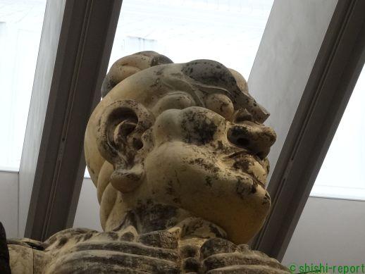 金剛力士像の頭部を撮影した画像