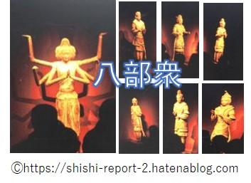 興福寺の八部衆の写真を並べた画像