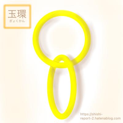 環が二つ連なった玉環のイラスト