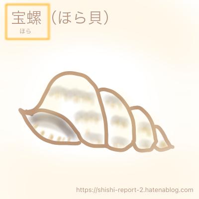 ほら貝のイラスト
