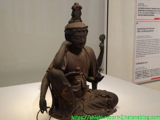 奈良博の如意輪観音を撮影した画像