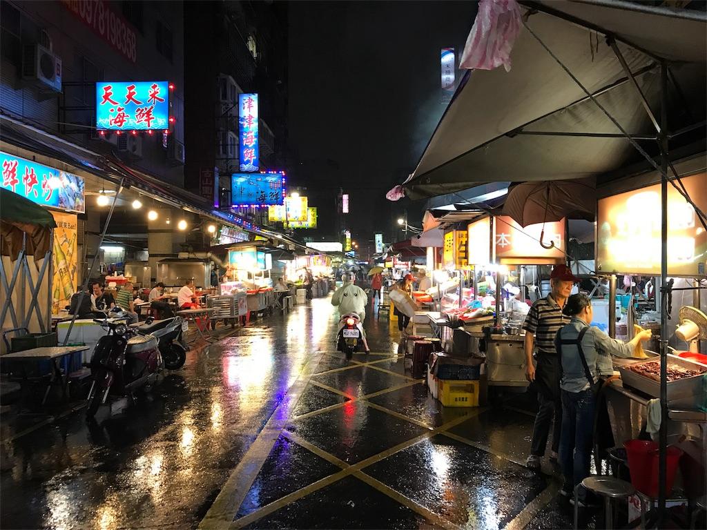 梧州街夜市は市場のようだ