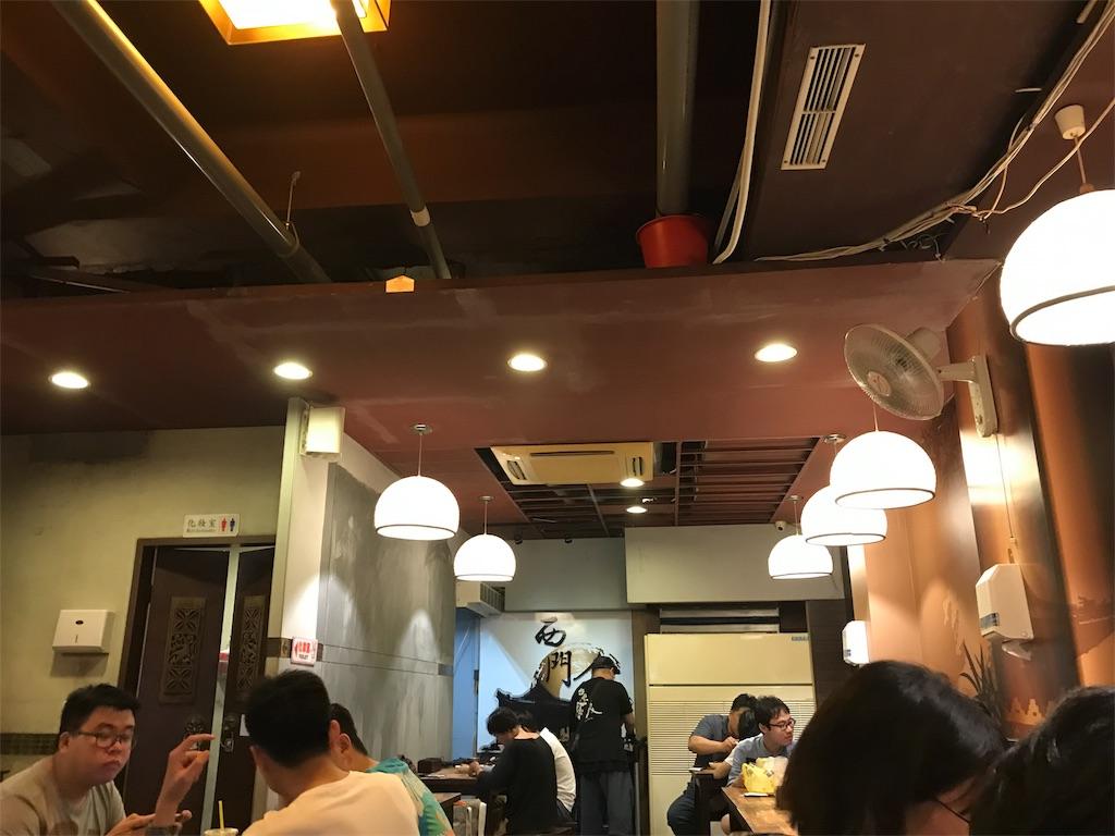 西門金鋒魯肉飯の店内