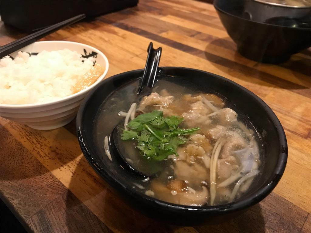 椎茸肉団子のとろみスープ