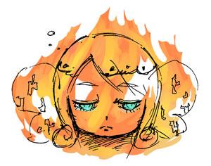 燃えるなかでも視点蝶の瞳は…