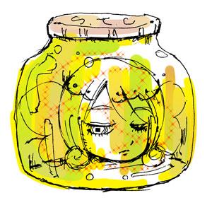 瓶の中に閉じ込められた視点蝶