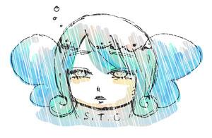 雨に塗れる視点蝶