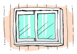 うちの窓の形